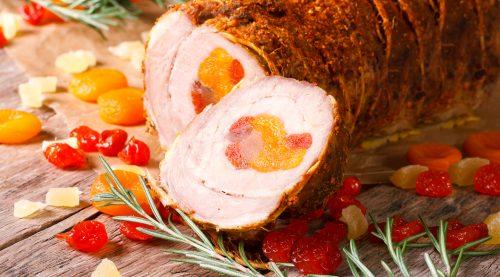 Rollitos de cerdo rellenos de damasco