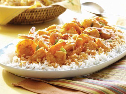 Salsa de camarones para cubrir carnes y pescados